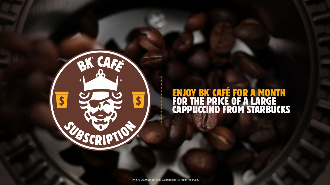 Burger King launching new $5 coffee subscription service