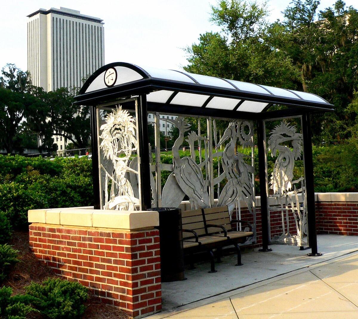Mark Dickson's bus shelter art work