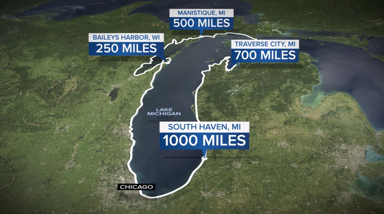 Running Lake Michigan Route