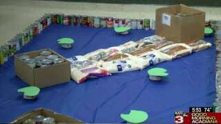 Spirit of Acadiana: St. Thomas More's CANstruction food drive