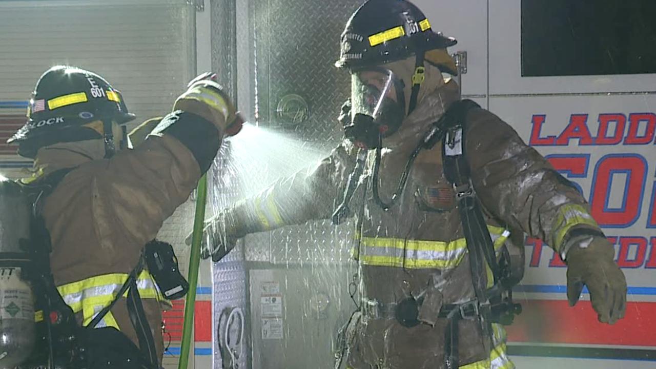 Phoenix firefighters wash down kits