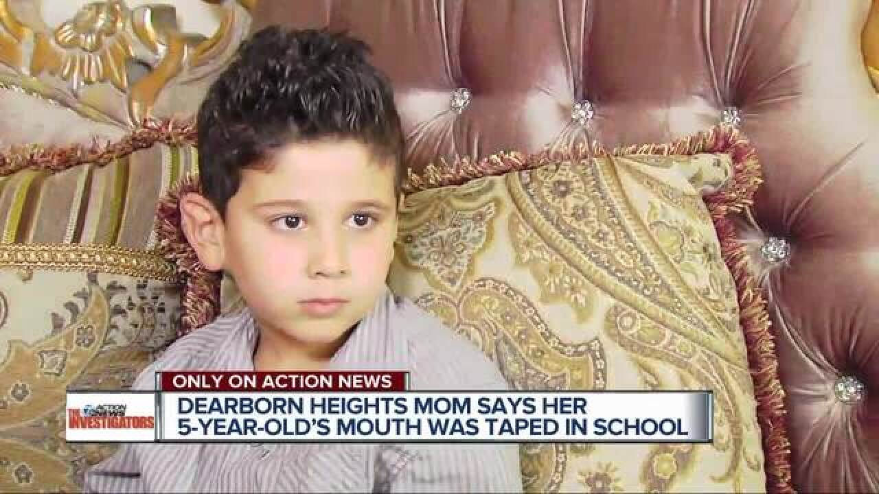 Boy claims two teachers taped his mouth shut