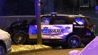 Injuries in crash involving Newark Police vehicle