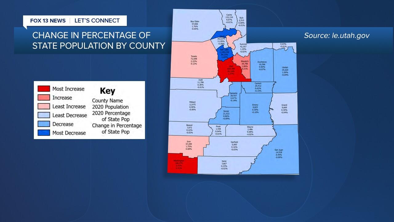 Utah Redistricting map population