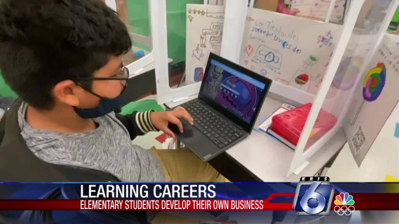 Fourth-graders at Gibson Elementary School learned a business curriculum