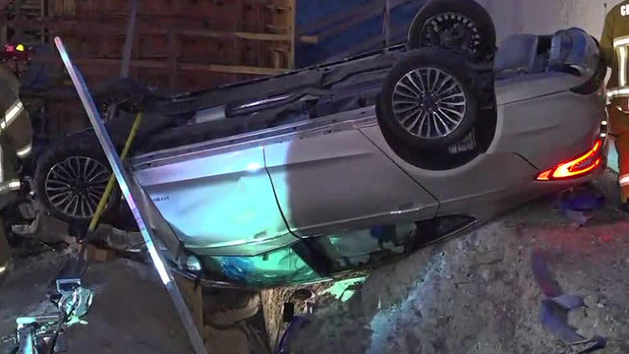 Driver rescued from car after crash in Otay Mesa