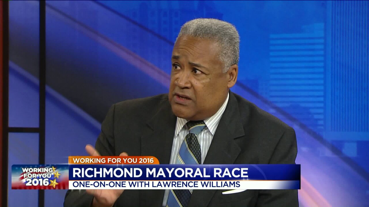Mayoral candidate Lawrence Williams answers voter questions on Facebooklive