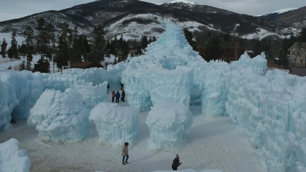Go inside Colorado's magical ice castle