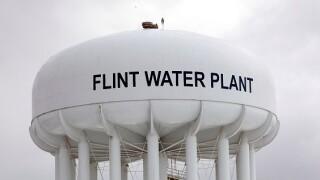 Flint water tower file photo