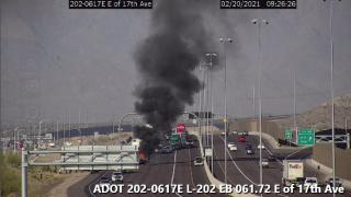 ADOT l202 car fire