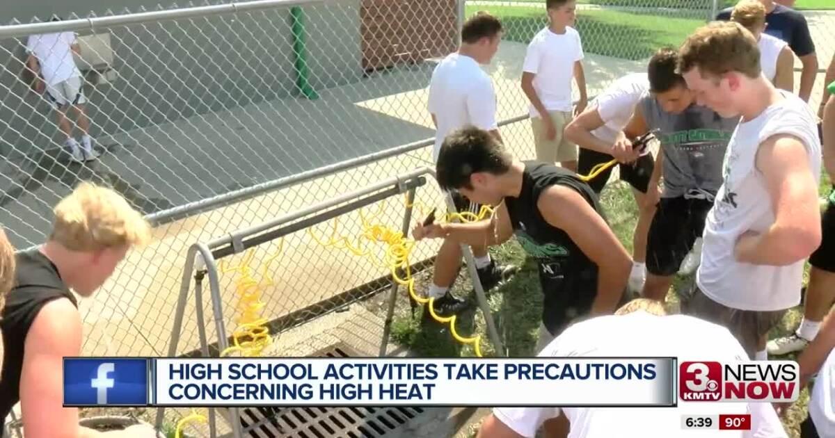High school activities take precautions concerning high heat