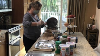 A Wellington woman is using her love for cooking to help others.