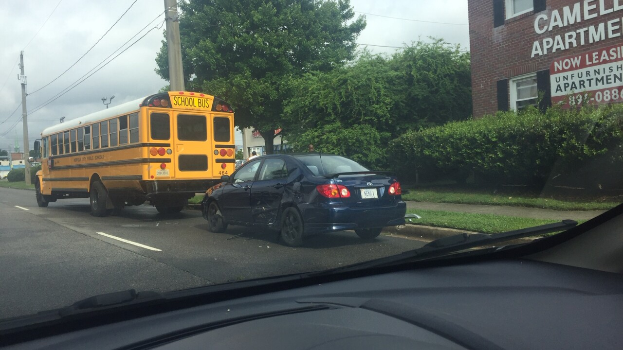 Teen charged after crashing into Norfolk school bus