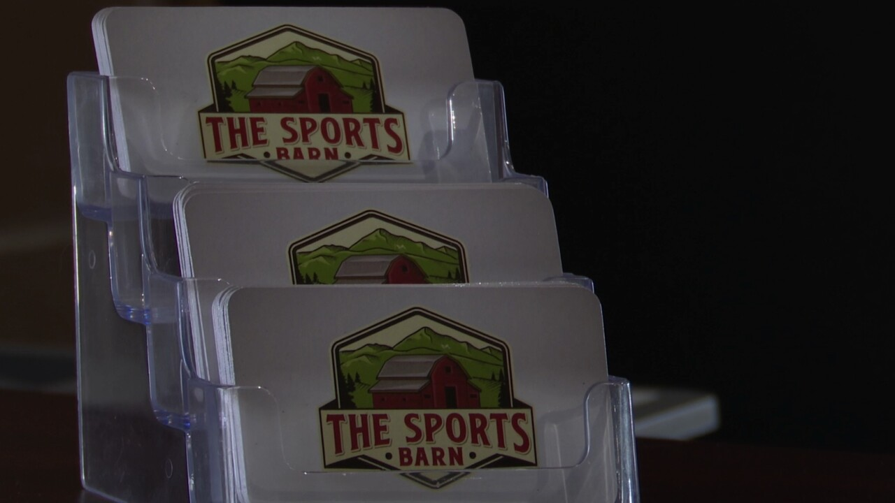 The Sports Barn in Missoula has year-round turf, golf, and more.
