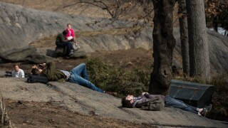 New Yorkers Enjoy Brief Respite From Brutal Winter As Temperatures Hit High 50's