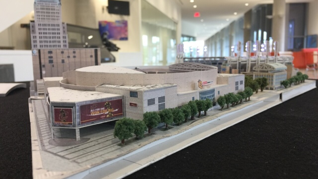Amazing miniature model of CLE's sport stadiums