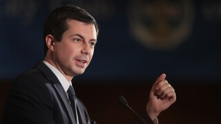 Democratic Presidential Candidate Pete Buttigieg Speaks At City Club of Chicago Luncheon