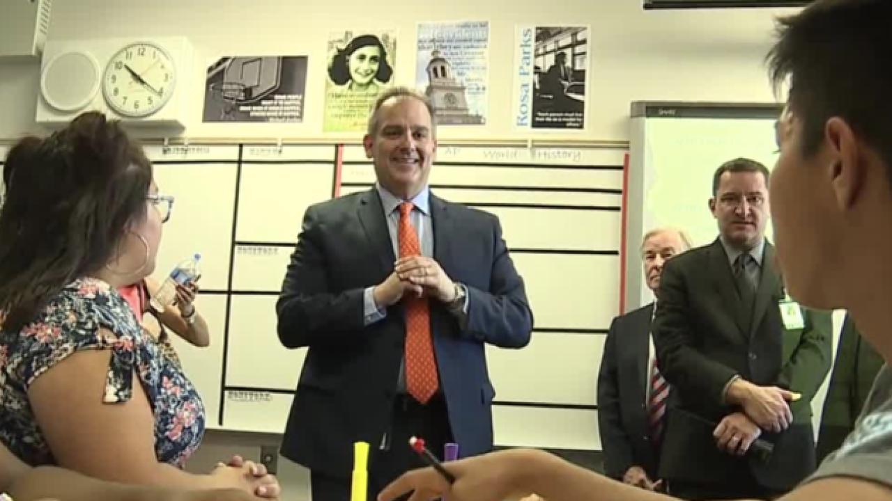 CCSD's new superintendent tours Del Sol Academy