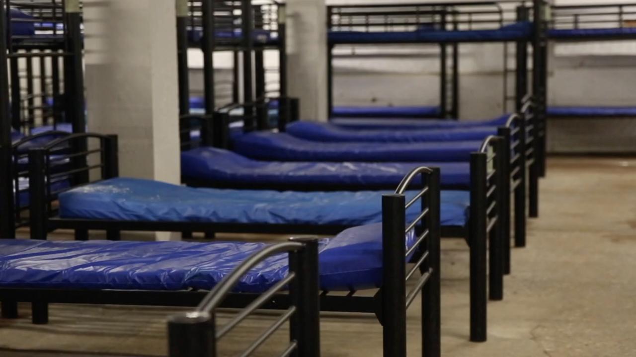 Homeless shelter beds