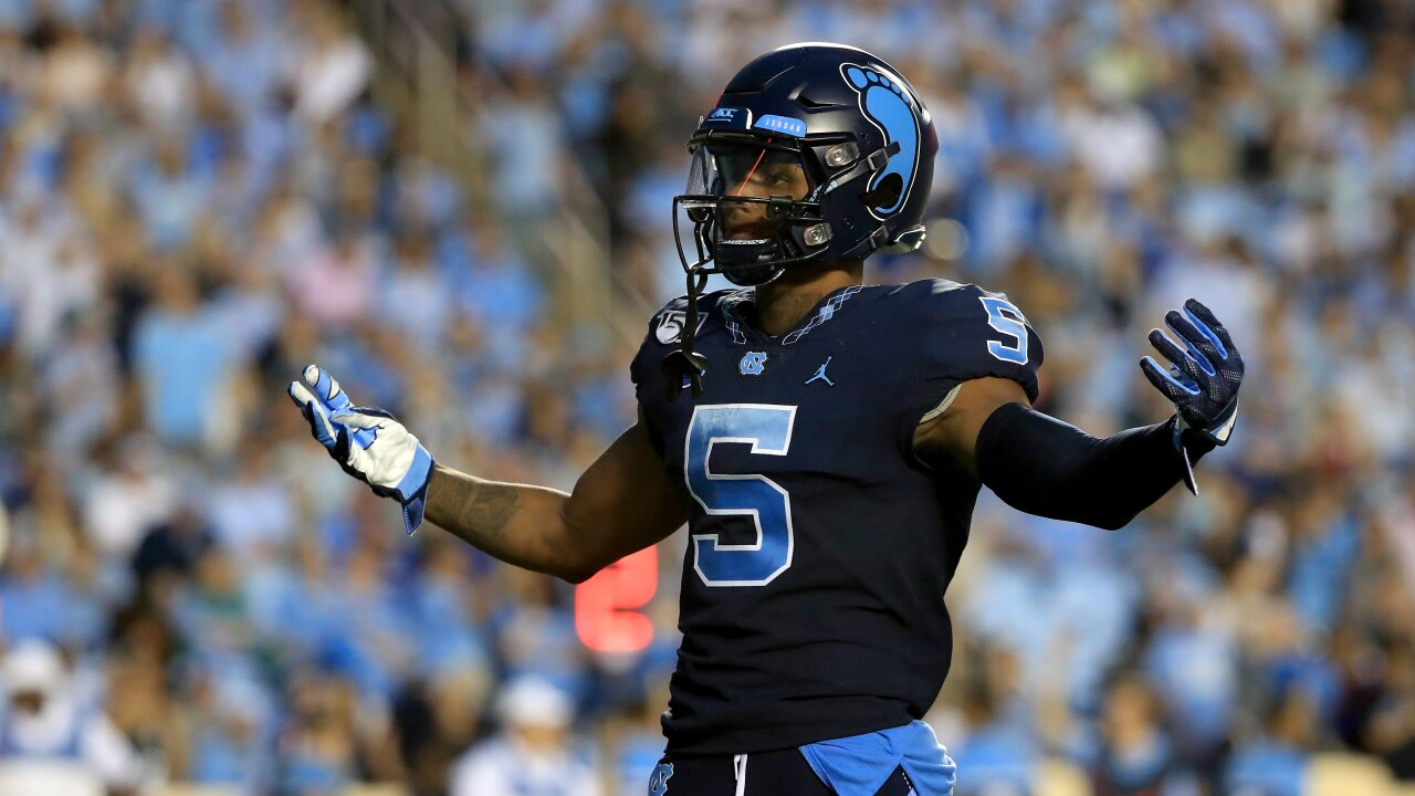 Dazz Newsome, Hampton product & UNC standout, tabbed ACC's Receiver of the Week