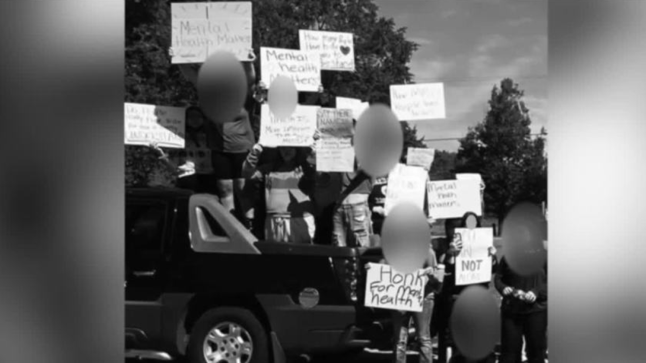 Parent concerned after child is suspended while protesting for mental health awareness