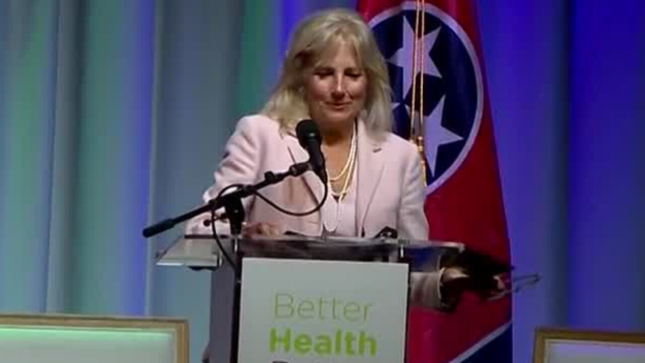 Jill Biden Speaks At Student Health Summit