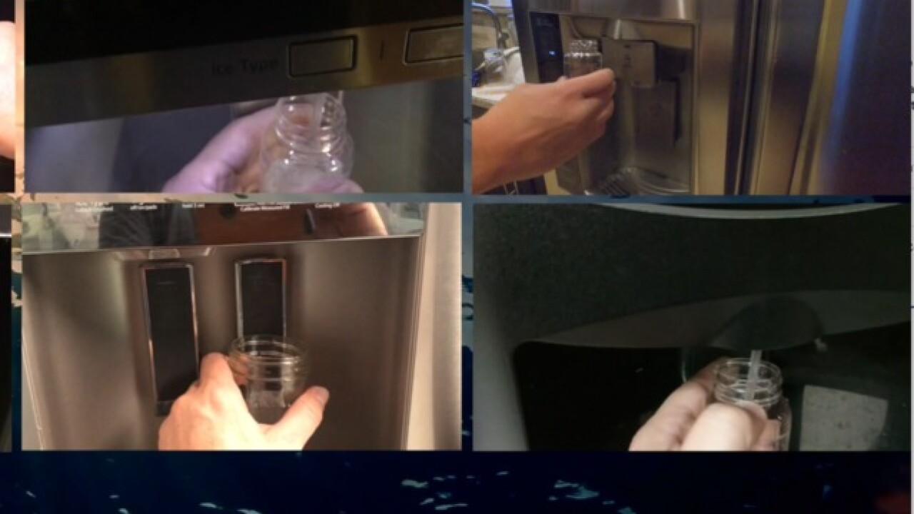 How clean is the water from your fridge dispenser?