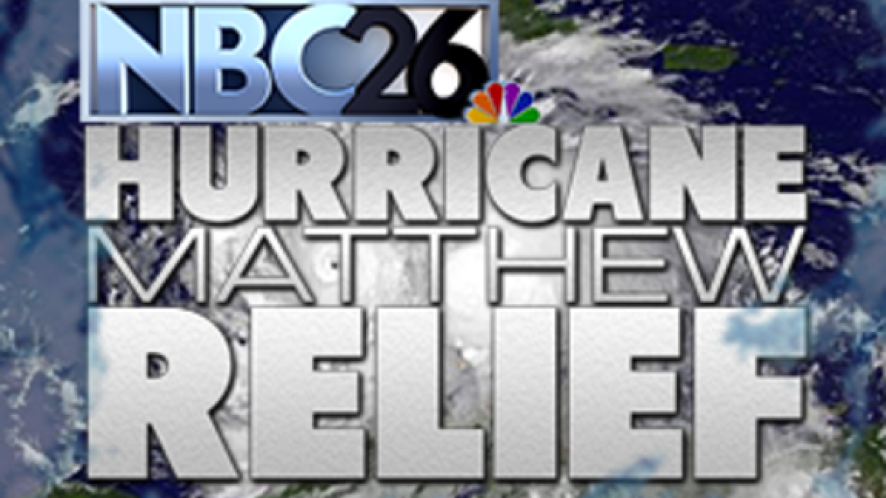 NBC26 Cares Hurricane Matthew Relief Drive