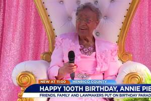 Parade honors Henrico woman turning 100 years old
