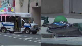 Access-a-Ride van crashes into subway entrance