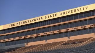The Pennsylvania State University sign at Beaver Stadium