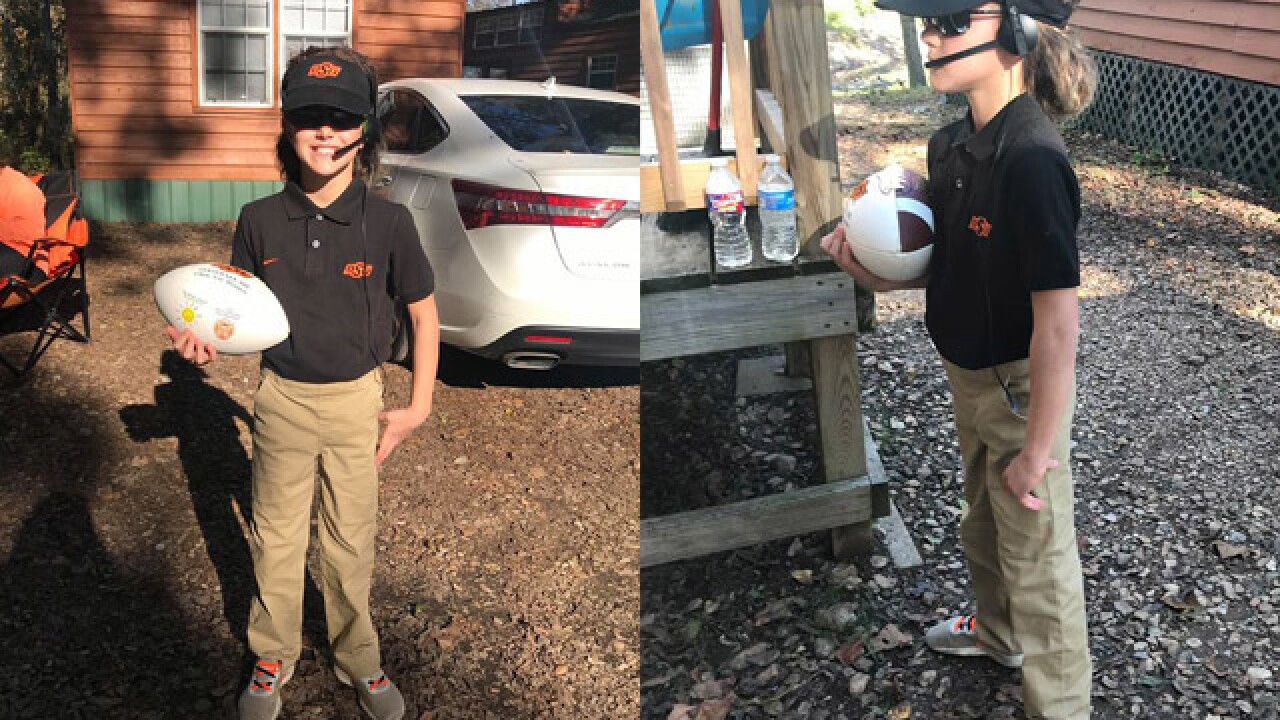 Young Oklahoma State fan sports flawless Mike Gundy Halloween costume
