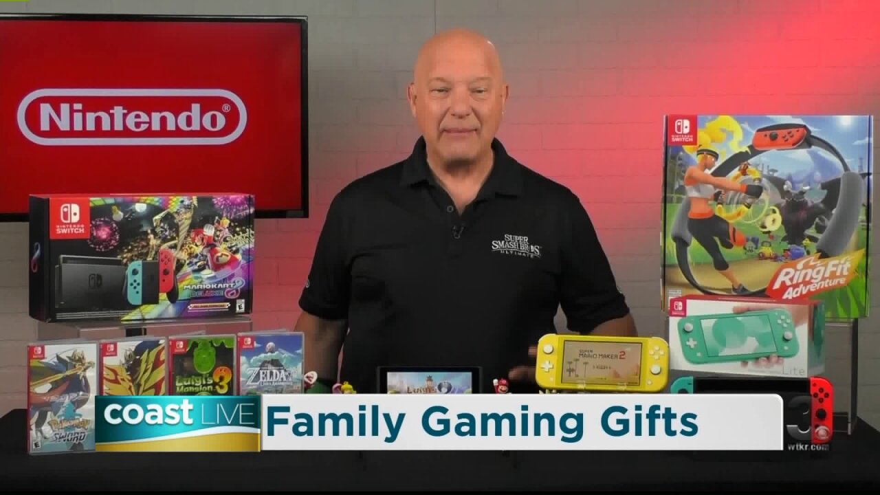 A gift guide for gamers from Nintendo on CoastLive