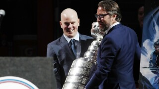 FILE Alex Tanguay, Peter Forsberg, Stanley Cup