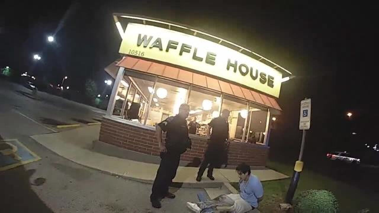 Body cam video shows arrest of suspect