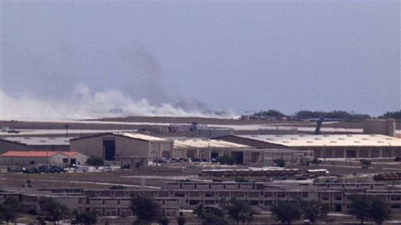 B-52 crashes at Guam air base