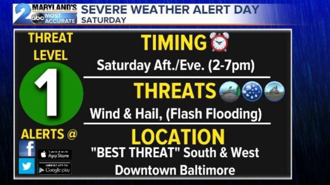 SEVERE THREAT SATURDAY: Flash Flooding Concerns