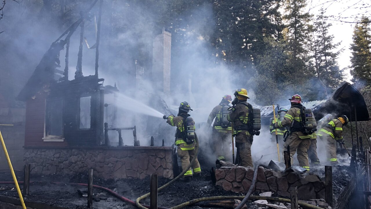 Fire destroys cabin in Parley's Canyon