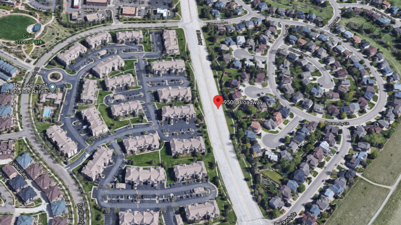 Location of human bones/skull found in Highlands Ranch on Aug 26 2020