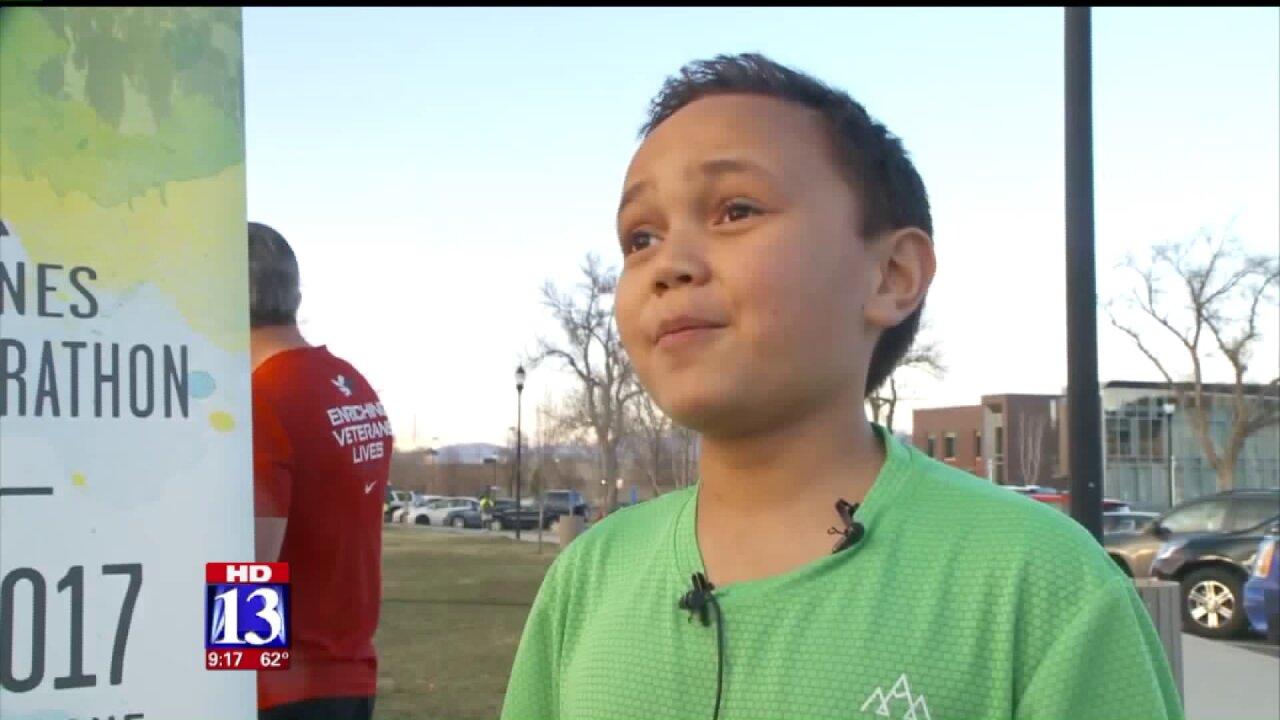 Layton boy battling brain tumors named Celebrity Starter for Salt Lake CityMarathon