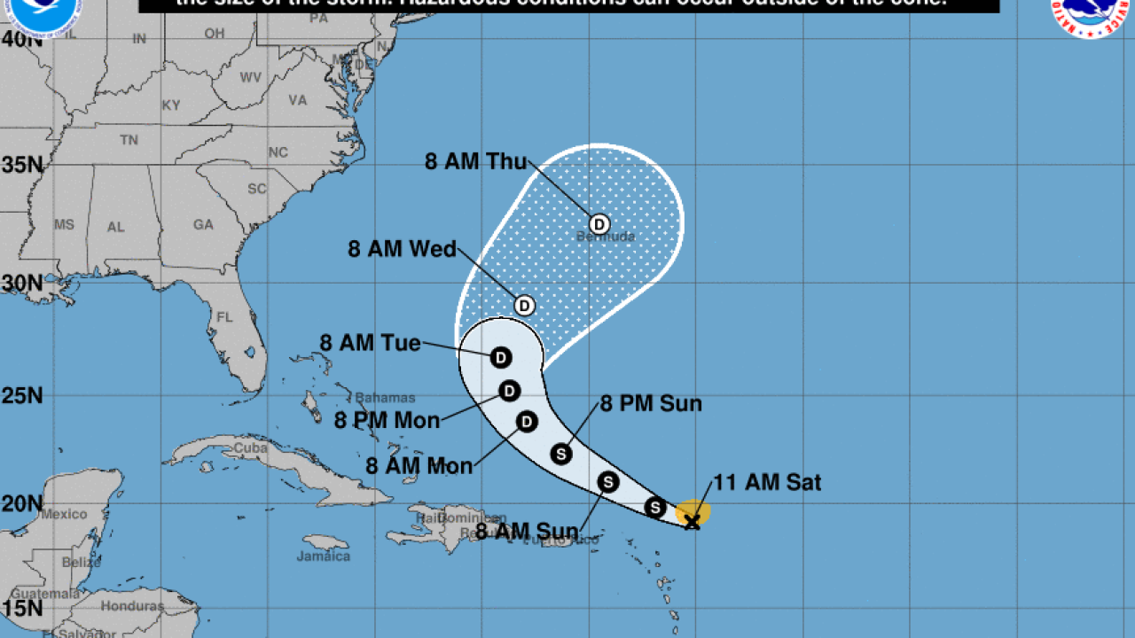 Tropical Storm Josephine Inches Closer To Land Kyle Moves Away