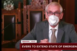 Gov. Tony Evers issues new state of emergency order, extends mask mandate until January 2021