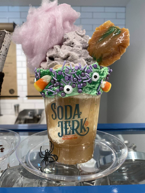 """Hocus Pocus"" float at The Soda Jerk Co."