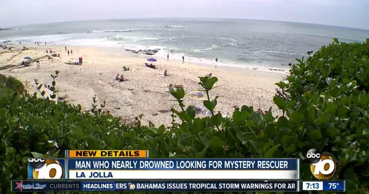 La Jolla man who nearly drowned searches for good Samaritan