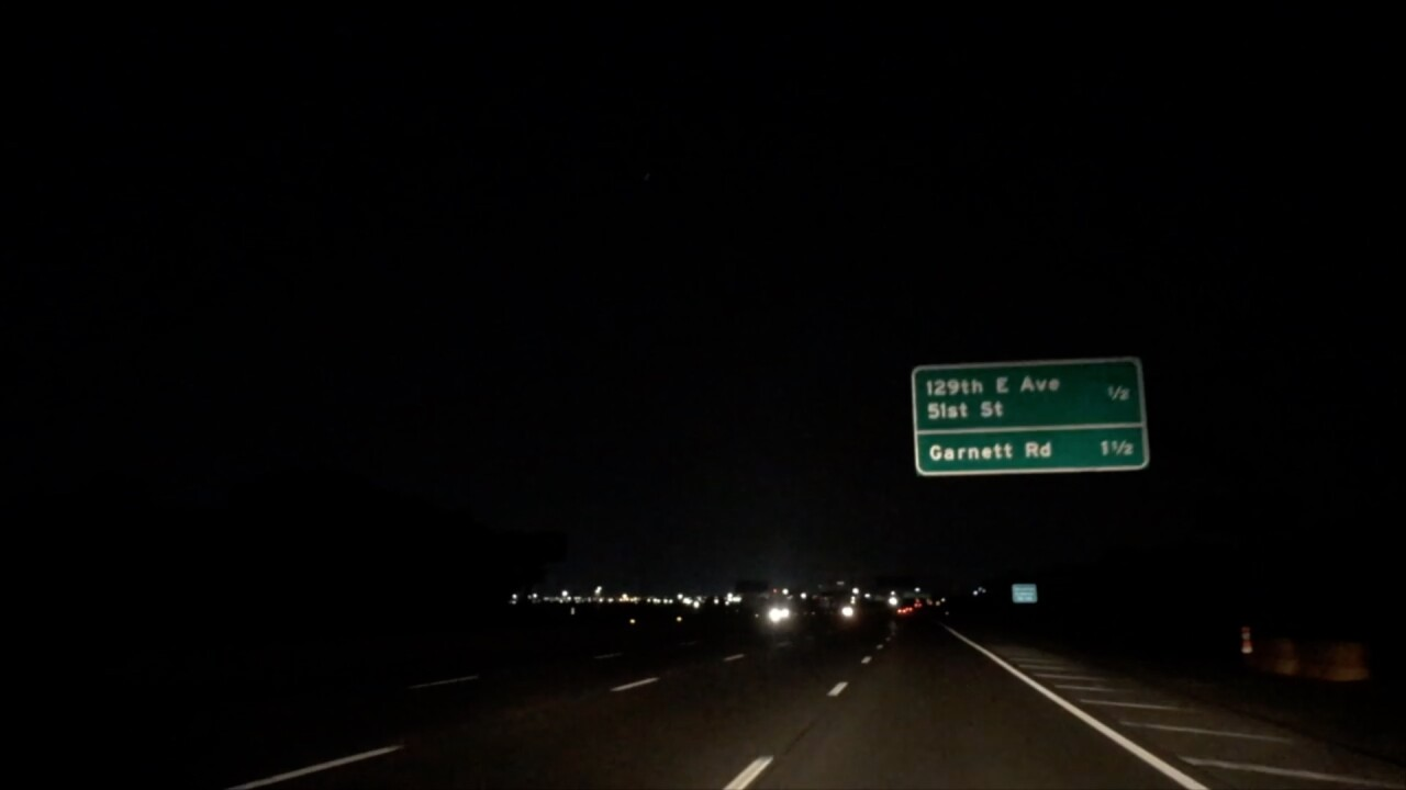 Broken Arrow Expressway lights out