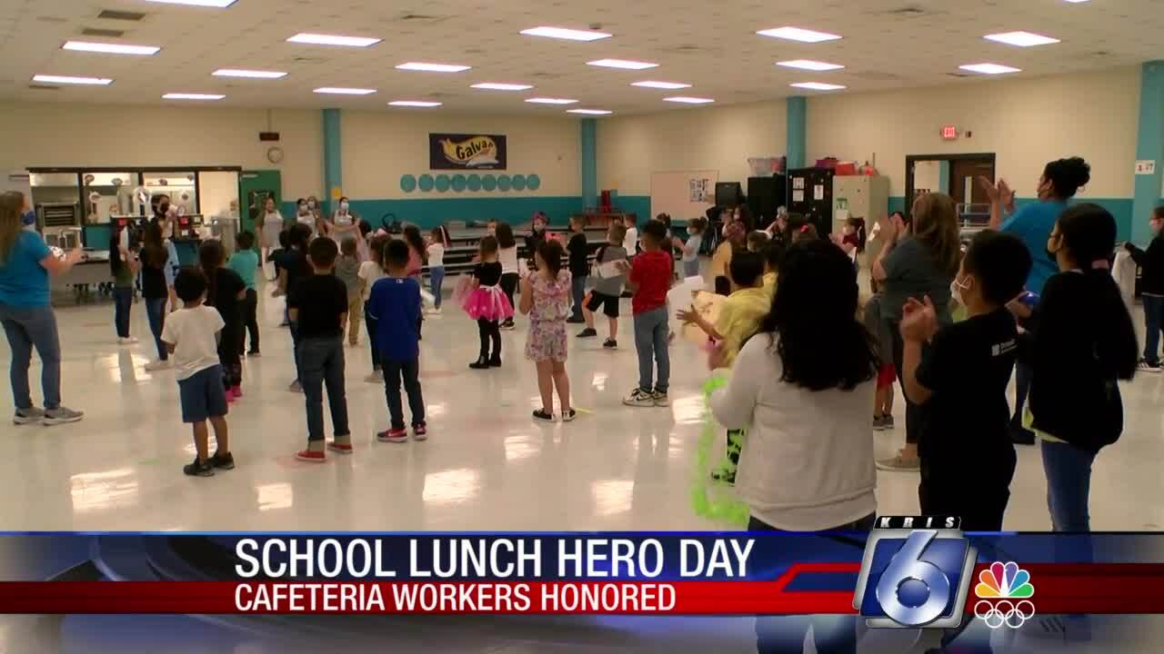 Students honored cafeteria workers with School Lunch Hero Day