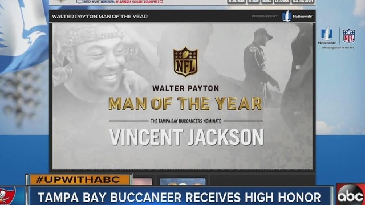 You can help Tampa Bay Bucaneer Vincent...