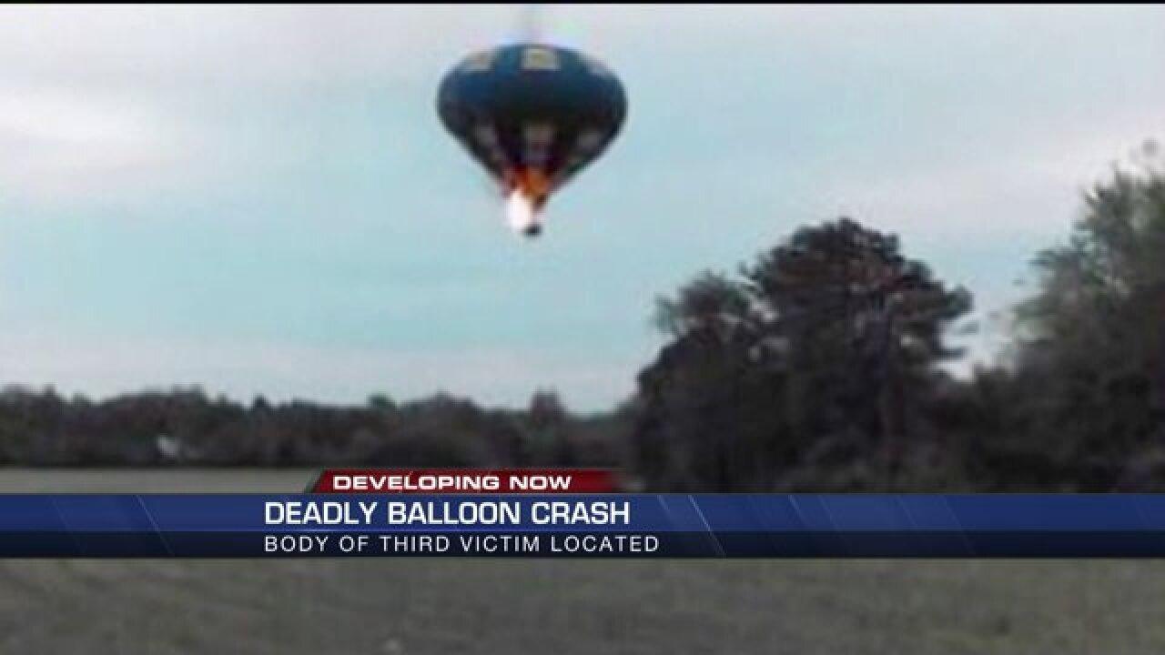 Crews find body of third victim in hot-air balloonaccident