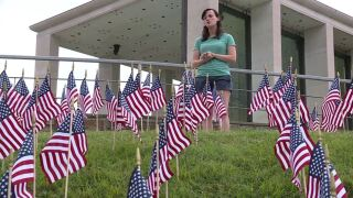 Photos: 12,000 American flags line Virginia War Memorial hillside