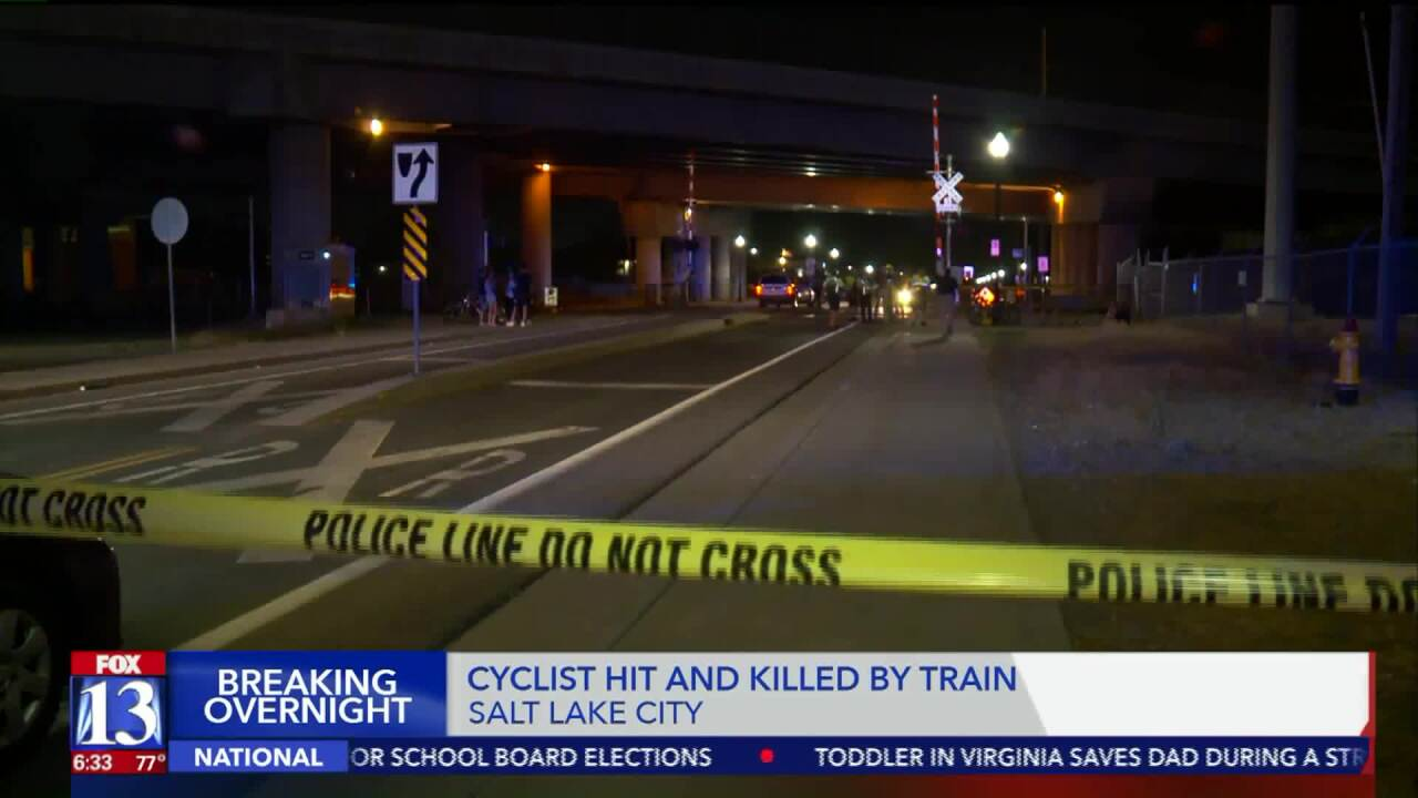 Authorities identify man hit, killed by FrontRunner train during group bike ride in Salt LakeCity